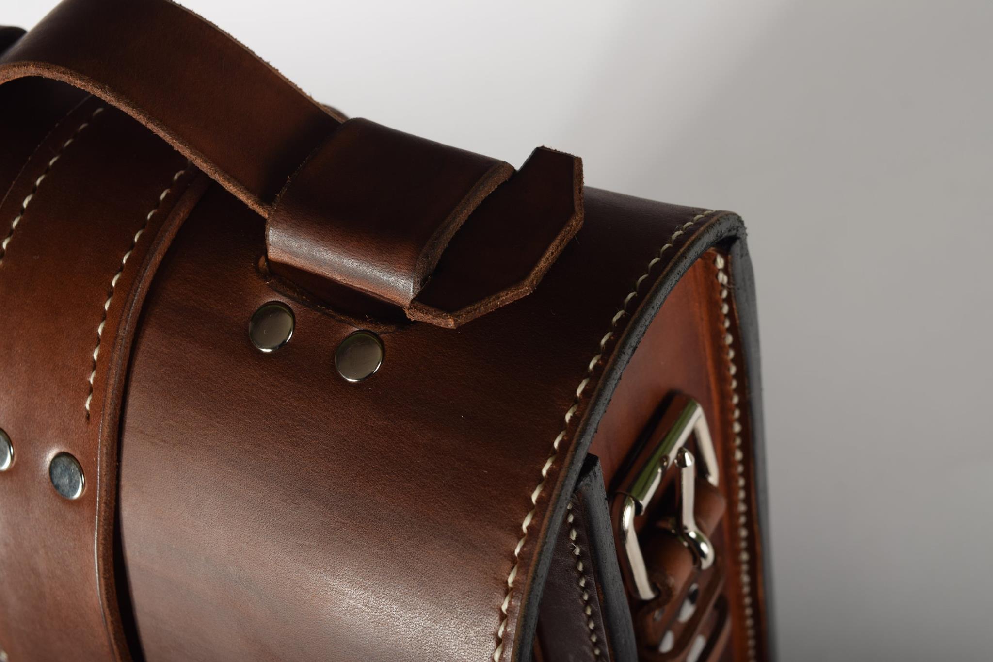 pánska kožená taška - detail